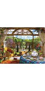indoor jigsaw puzzle, Victorian theme puzzle, vintage puzzle, large piece jigsaw puzzle
