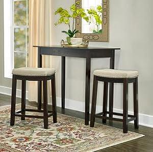 Amazon Com Linon Hampton Stool Fabric Top 24 Inch