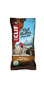 CHOCOLATE HAZELNUT BUTTER CLIF BAR ENERGY BAR NUT BUTTER FILLED USDA ORGANIC