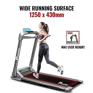 PowerMax Fitness TD-M4 2HP (4HP Peak) Motorized Treadmill With Home Use & Semi Automatic Lubrication