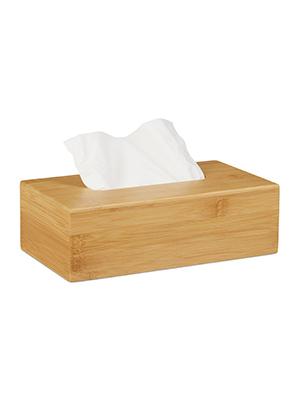 Relaxdays, 8,5 x 27,5 x 15,5 cm Caja para pañuelos, Dispensador de ...