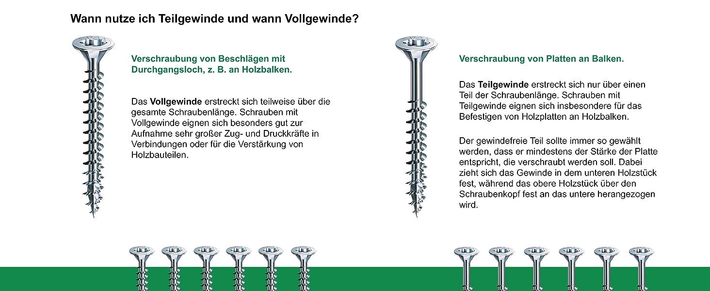 4CUT SPAX Universalschraube Teilgewinde YELLOX 500 St/ück 0291020500605 Kreuzschlitz Z2 5,0 x 60 mm Senkkopf