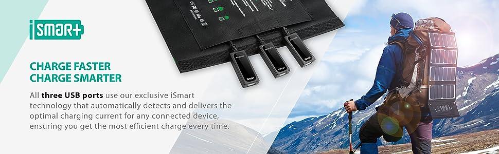 Amazon.com: Solar Charger RAVPower 24W Solar Panel with 3