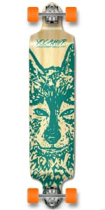 drop down spirit wolf longboard skateboard
