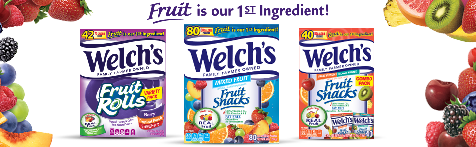 Welch's Fruit Snacks, Fruit snacks