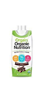 Orgain - Vaso de nutrición orgánica, dulce vainilla, sin ...