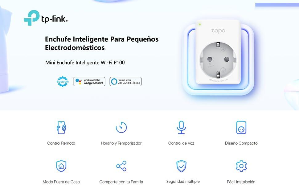 TP-Link Tapo P100 4-pack - WiFi Enchufe Inteligente Mini tamaño ...