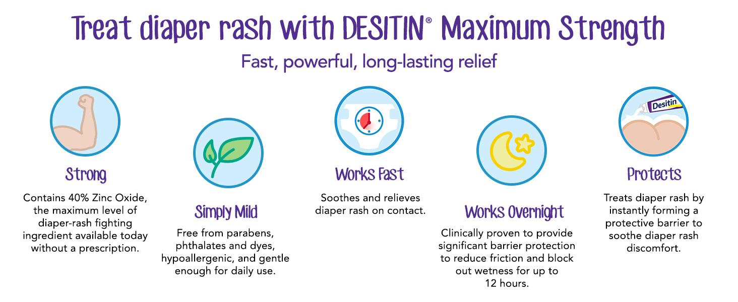 Treat Diaper rash with Desitin Maximum Strength
