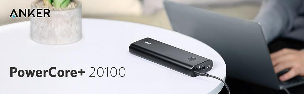 Baterie externa Anker PowerCore+ 20100 mAh USB-C. Baterie care incarca Macbook