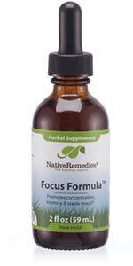 Focus Formula FocusFormula Native Remedies Focus Fomula Native Remedies FocusFormula