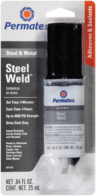 Permatex 84109-12PK PermaPoxy 4 Minute Multi-Metal Epoxy, 0.84 oz. (Pack of 12)