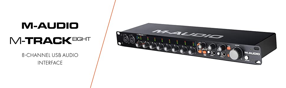 Audio/midi Interfaces M-audio M-track 8 High-resolution Usb 8 Input Audio Interface Selling Well All Over The World