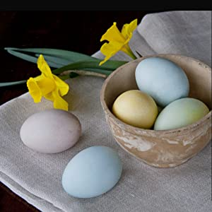 Naturally dyed Easter Eggs colored with natural food colors