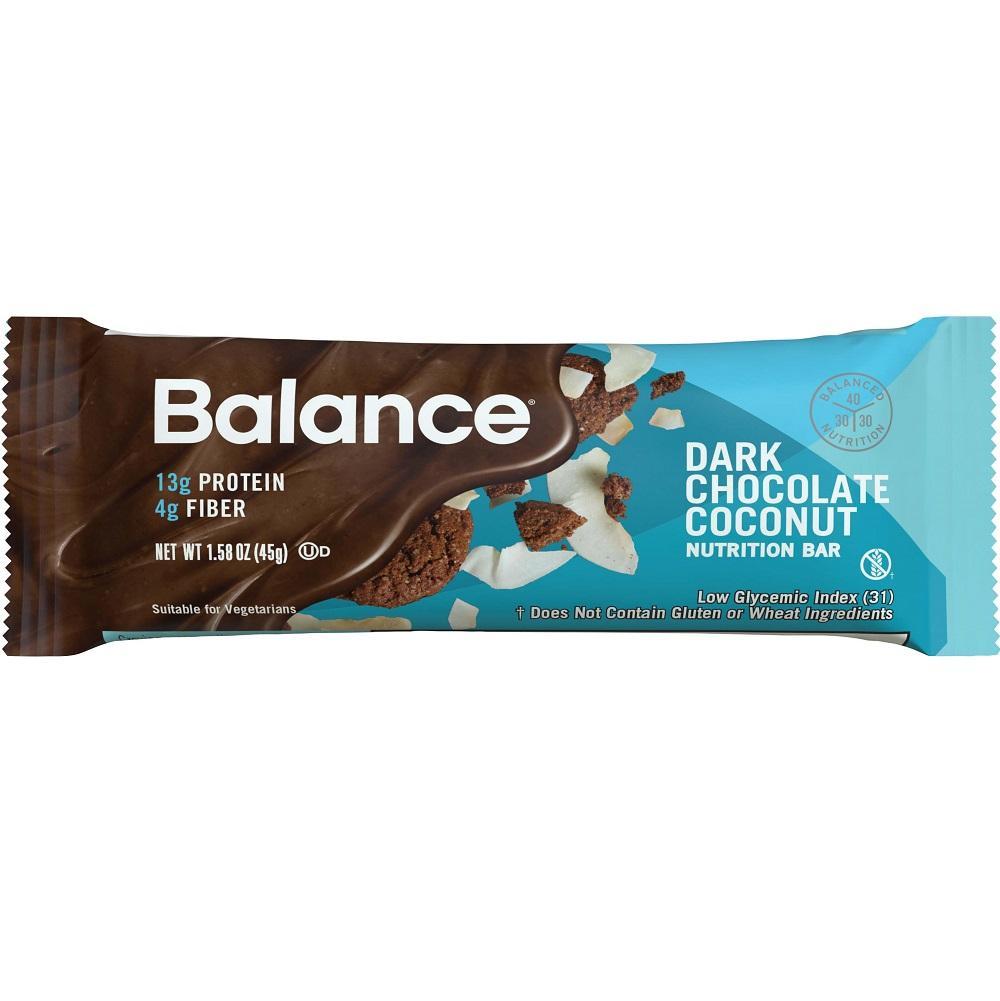 Amazon.com: Balance Bar Dark Chocolate Coconut, 1.58 Ounce Bars, 6 ...