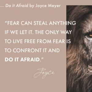 joyce meyer, new book, do it afraid, no fear, lion courage,  New York times, free from fear