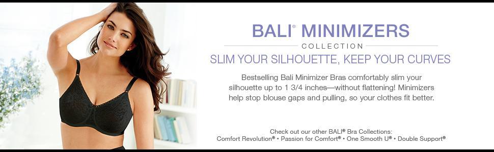 09d5388a063fb Bali Women s Satin Tracings Minimizer Underwire Bra at Amazon ...