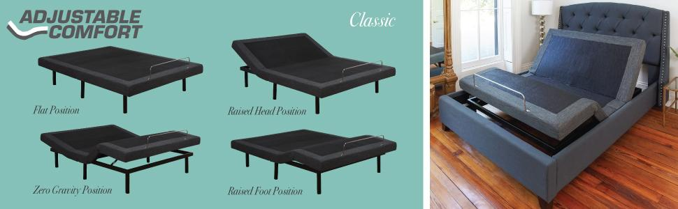Classic Brands Adjustable Comfort Adjustable Bed Base With