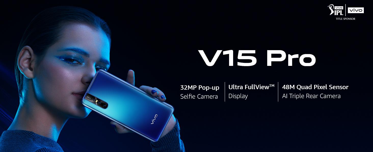 Vivo V15 Pro (Topaz Blue, 6GB RAM, 128GB Storage) with No Cost  EMI/Additional Exchange Offers