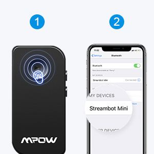 Mpow Bluetooth Receiver, Bluetooth Car Adapter & Bluetooth Car Aux Adapter for Music Streaming