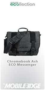 Black Mobile Edge Mecme1 17.3 Eco Messenger Bag