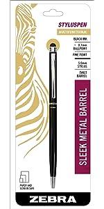 screen and paper friendly pens, stylus pen twist ballpoint pen, zebra multifunction pens