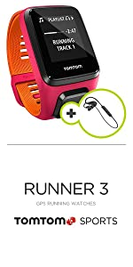 TomTom Runner 3 Music+Auriculares, Reloj música y auricular, Negro ...