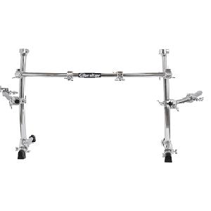 gibraltar, gibraltar hardware, percussion, drums, drum rack, drum set, hardware, curved rack