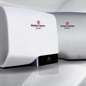 120//208//240V World Dryer L-971 SLIMdri Surface Mounted ADA Compliant Automatic Hand Dryer with Aluminum Brushed Chrome Cover