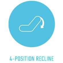 4-position recline