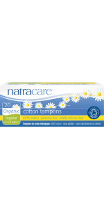 Natracare Organic Non Application regular tampons 20 count