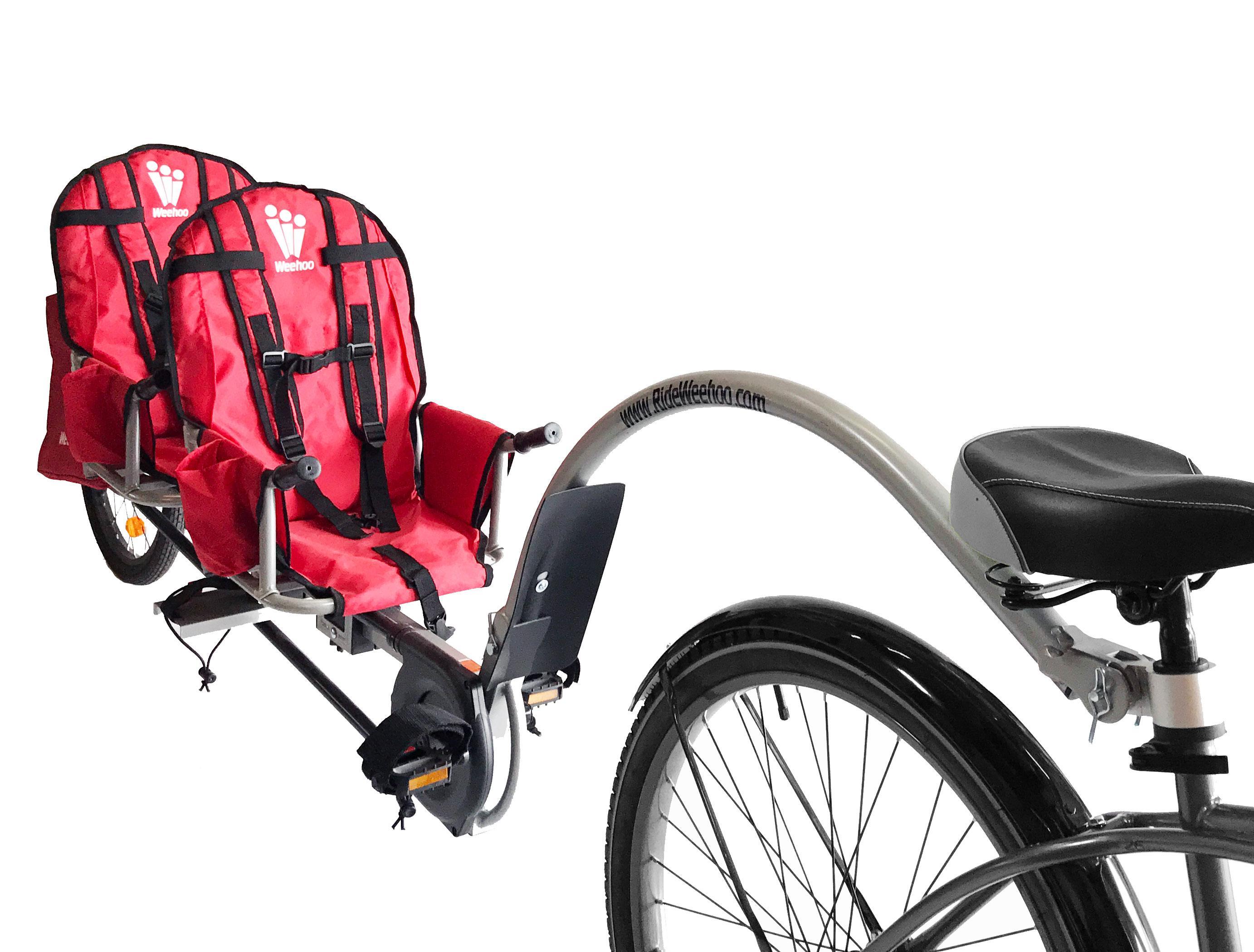 Amazon.com : Weehoo 2-Bike Trailer : Sports & Outdoors