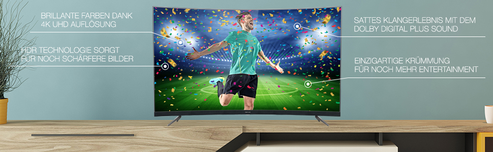 Thomson 55ud6696 Curved Fernseher 139 Cm 55 Zoll Smart Tv 4k Uhd