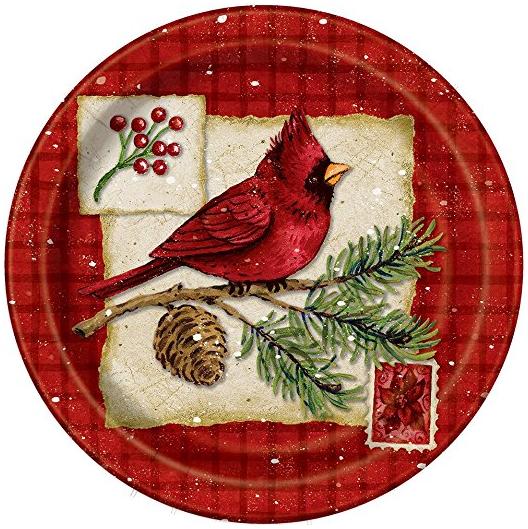 Cardinal Christmas Dinner Plates 8ct ...  sc 1 st  Amazon.com & Amazon.com: Cardinal Christmas Dinner Plates 8ct: Kitchen \u0026 Dining