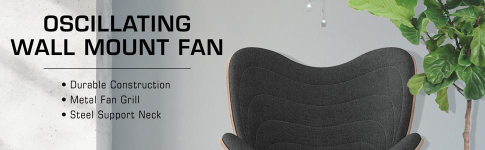 Oscillating Wall Mount Fan
