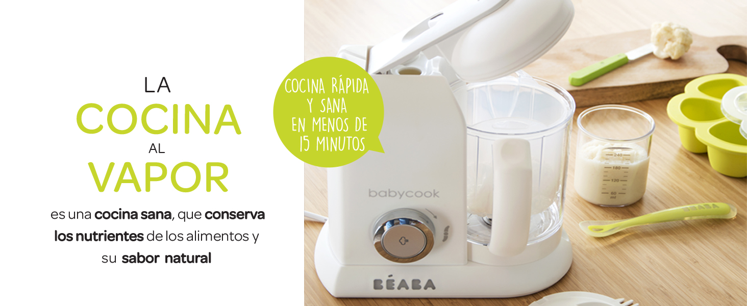 Béaba Babycook Solo Robot de cocina infantil 4 en 1, Tritura ...