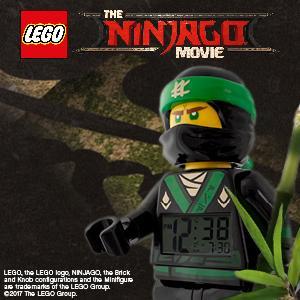 lego ninjago movie lloyd kinder wecker mit minifigur und. Black Bedroom Furniture Sets. Home Design Ideas