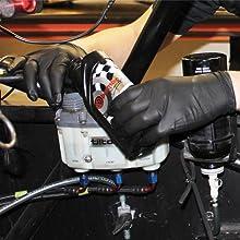 Dark Light Nitrile Disposable Gloves Auto Mechanic 9 mil thick
