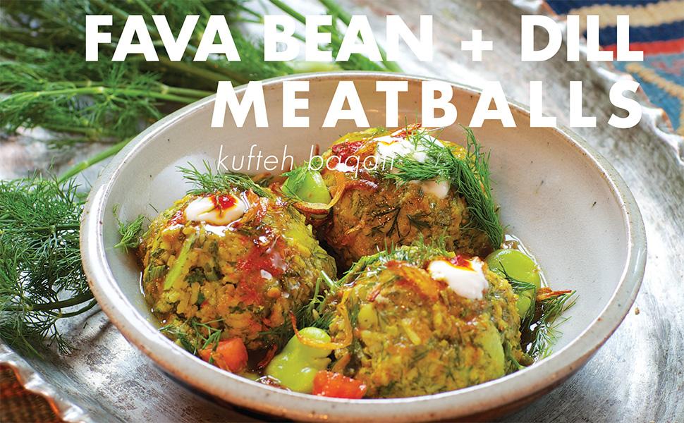 fava bean meatball, meatballs, joon, najmieh, kufteh