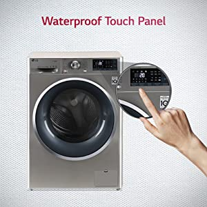 LG  water proof panel front load washing machine