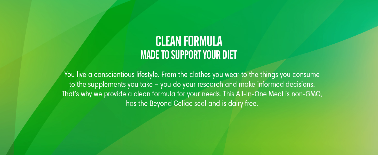 Clean Formula - Made to support your diet