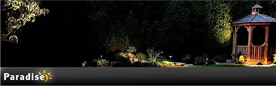 Paradise by sterno home low voltage led polyresin bollard with paradise gl33749st low voltage led polyresin bollard with textured stone 3 watt aloadofball Image collections