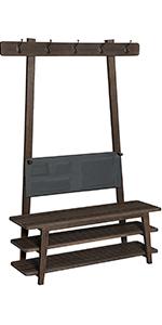 Amazon.com: VASAGLE Industrial Coat Rack, Coat Stand with 3 ...