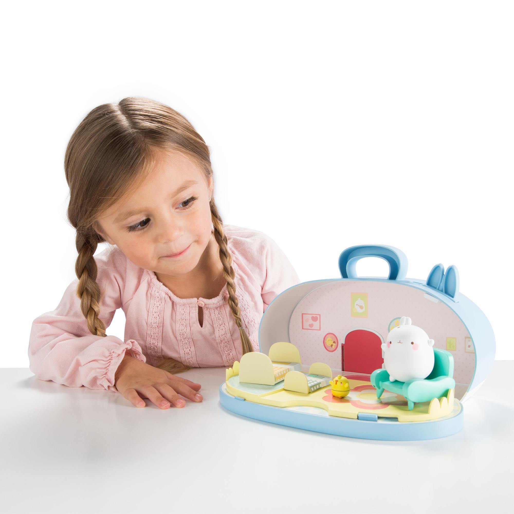 Molang L66032 Tomy Spielset Puppenhaus | Ideal ALS Geschenk für ...