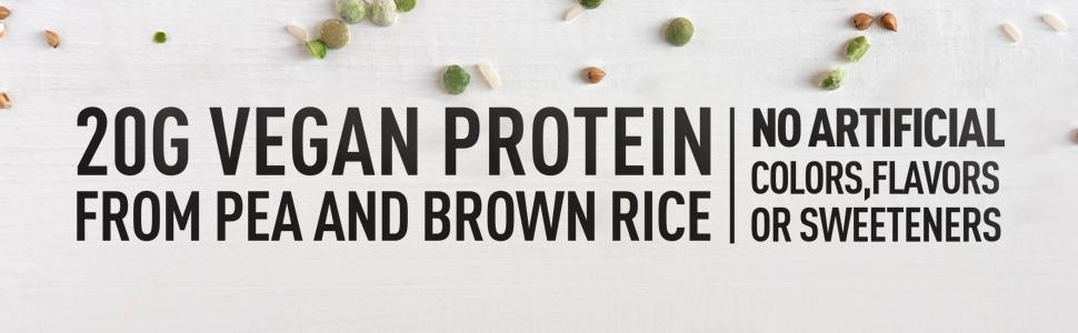 Natures Best Plant Protein Vegan Banner