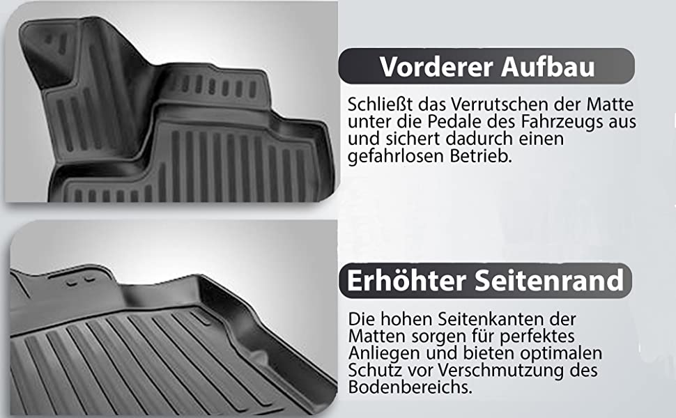 Element Exp Nlc 3d 41 28 210kh Passgenaue Premium Antirutsch Gummi Fußmatten Dacia Duster I 4wd Allradantrieb 2010 2017 Schwarz Auto