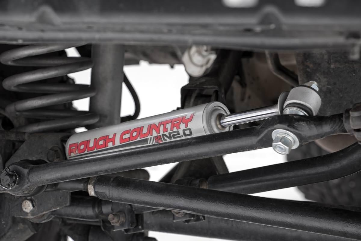 Jeep Steering Stabilizer >> Amazon Com Rough Country 87317n2 Steering Stabilizer With Premium