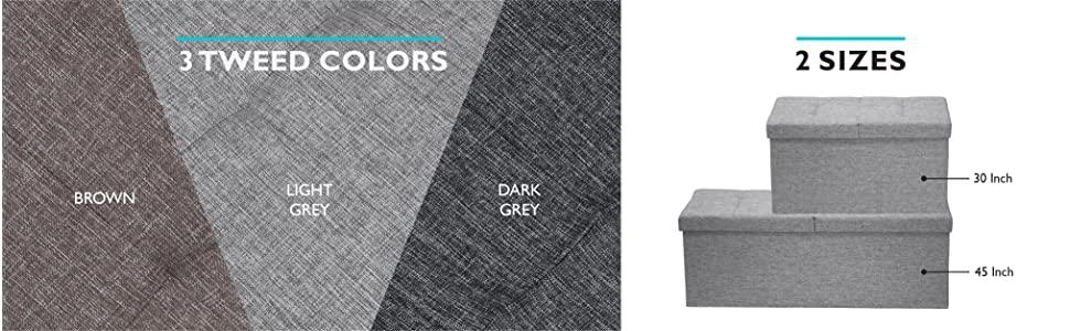 linen; tweed; grey; fabric; storage ottoman; bed bench; bed end; smart lift top; bedroom storage;