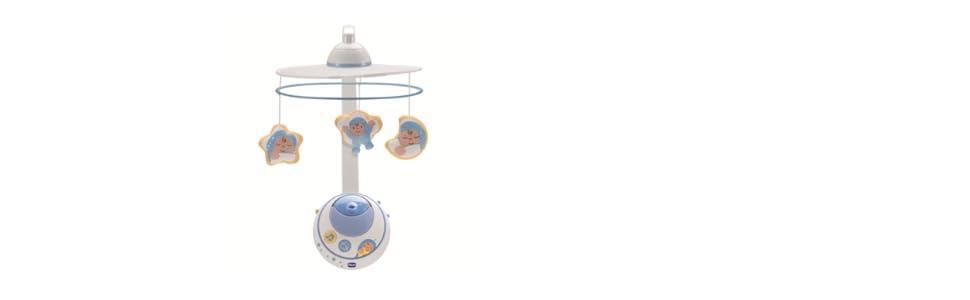 Chicco Mobile mit Sternenprojektor Einschlafhilfe Nachtlicht Spieluhr Blau