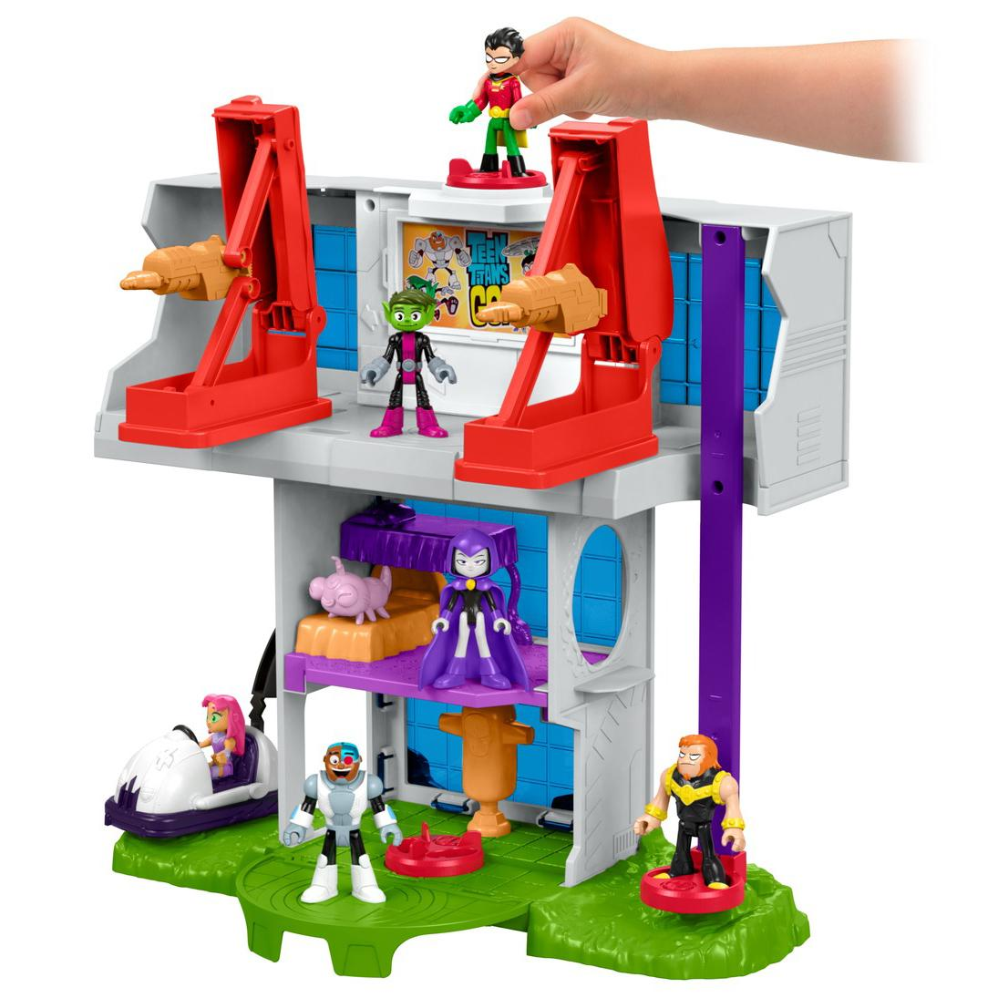 Teen Titan Toy : Fisher price imaginext teen titans go tower amazon