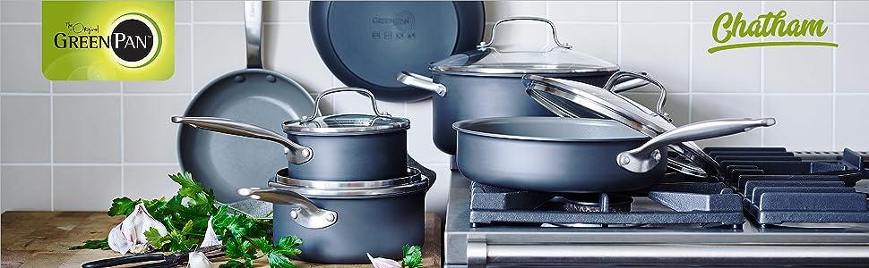 GreenPan, ceramic, nonstick, non-stick, cookware, frypan